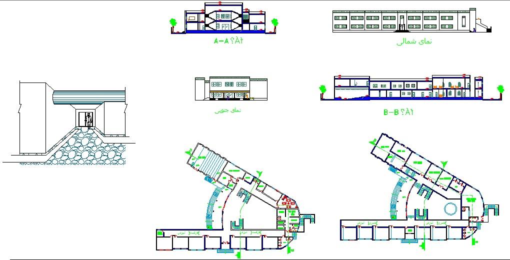 فایل اتوکد پروژه کامل معماری مدرسه