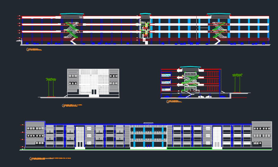 فایل اتوکد نقشه های معماری یک مرکز خرید ۸۵۰۰ متر مربعی