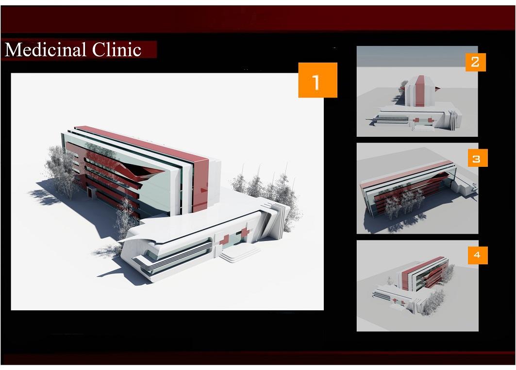 فایل اتوکد کلینیک پزشکی دوبعدی و سه بعدی